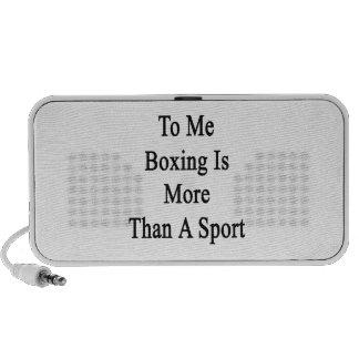 A mí el boxeo es más que un deporte iPhone altavoces