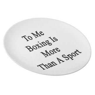 A mí el boxeo es más que un deporte platos para fiestas