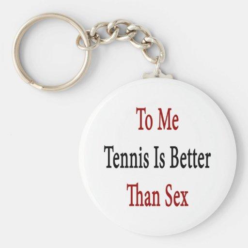 A mí el tenis es mejor que sexo llavero redondo tipo pin