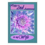 A mi esposa - 2do aniversario feliz felicitaciones