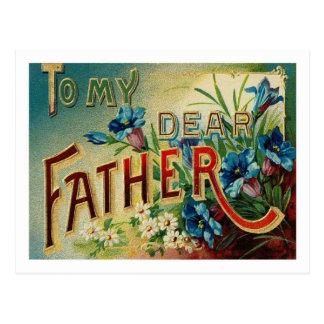 A mi estimado padre - postal