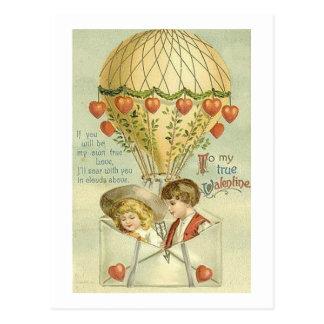 A mi globo del aire caliente de la tarjeta del día postales