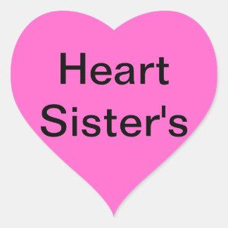 A mi hermana del corazón colcomanias corazon personalizadas