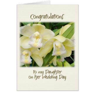A mi hija en su día de boda tarjeta de felicitación