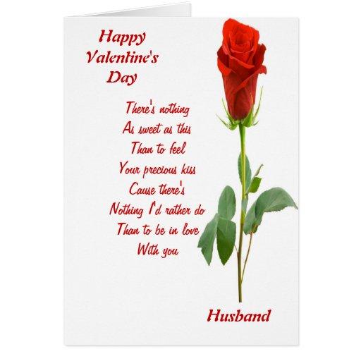 A mi marido el el día de San Valentín Tarjeta De Felicitación
