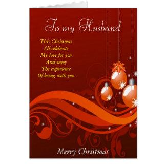 A mi marido en el navidad felicitacion