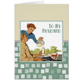 A mi marido tarjeta de felicitación