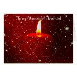 A mi navidad maravilloso del marido de la esposa tarjetas