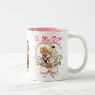 A mi novia (1), par precioso del boda taza de dos tonos