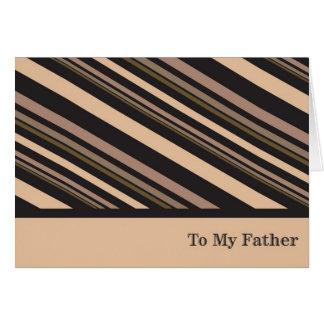 A mi padre tarjeta de felicitación