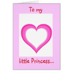 A mi pequeña princesa - tarjeta de felicitación