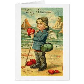 A mi pesca de la tarjeta del día de San Valentín p
