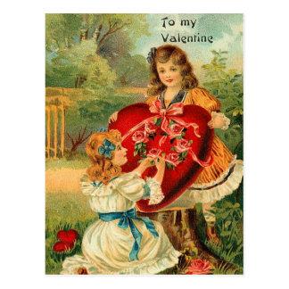 A mi postal de la tarjeta del día de San Valentín