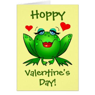 A mi príncipe Hoppy Valentines Frogs Cute Tarjeta De Felicitación