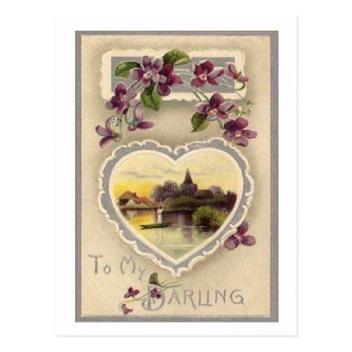 A mi querido - postal