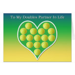 A mi socio de los dobles en tarjeta del tenis de l