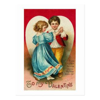 A mi tarjeta del día de San Valentín (14) Tarjeta Postal