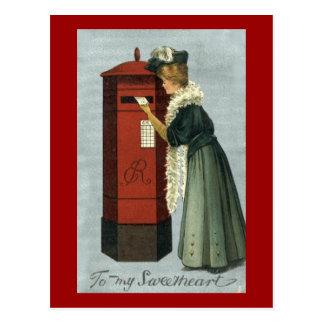 A mi tarjeta del día de San Valentín de envío de l Tarjeta Postal