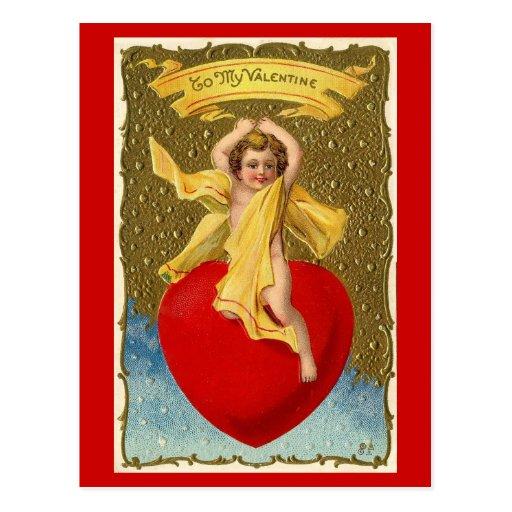 A mi tarjeta del día de San Valentín - postal