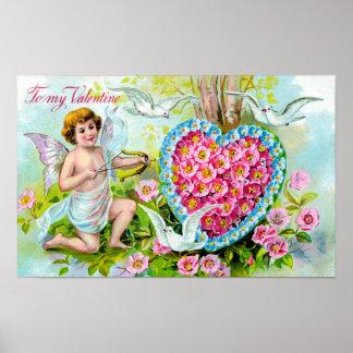A mi tarjeta del día de San Valentín Póster