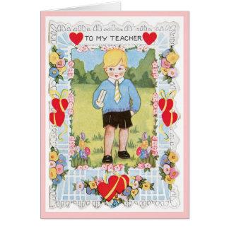 A mi tarjeta del el día de San Valentín del muchac