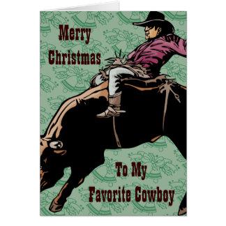 A mi vaquero preferido tarjeta de felicitación
