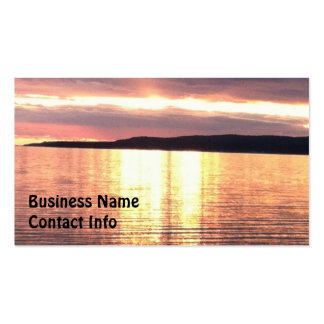 A Michigan sunset Double-Sided Standard Business Cards (Pack Of 100)