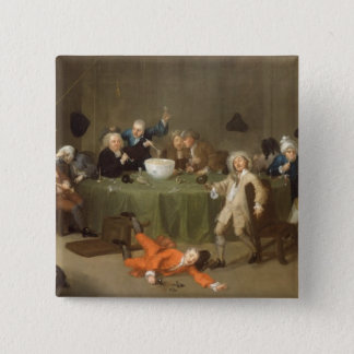 A Midnight Modern Conversation, c.1732 (oil on can Button