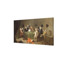 A Midnight Modern Conversation, c.1732 (oil on can Canvas Print