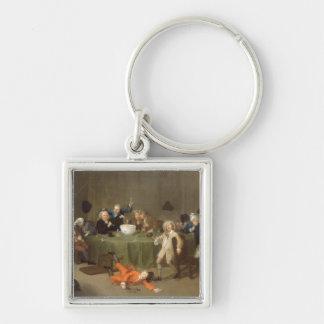 A Midnight Modern Conversation, c.1732 (oil on can Keychains