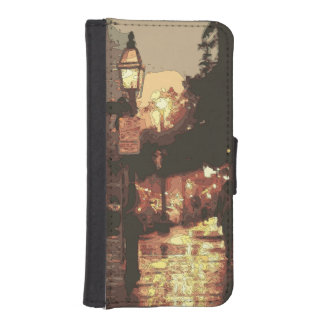 A Midnight Stroll in the Raining Park iPhone SE/5/5s Wallet Case