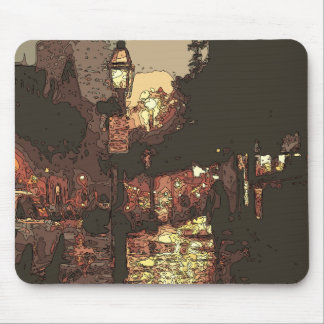 A Midnight Stroll in the Raining Park Mouse Pad