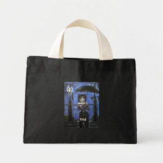 A Midnight Stroll Small Tote Canvas Bag