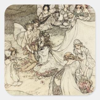 A Midsummer Night s Dream Fairy Square Stickers Square Stickers