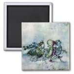 A Midsummer Night's Dream Fairies 2 Inch Square Magnet