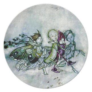 A Midsummer Night's Dream Fairies Melamine Plate