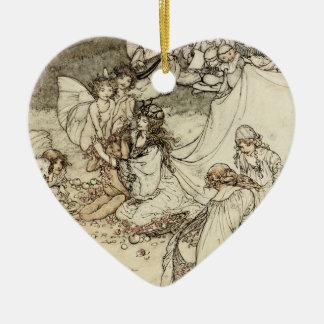 A Midsummer Night's Dream Fairy Heart Ornament
