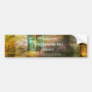 A Midsummer Night's Dream Quote By Shakespeare Car Bumper Sticker