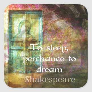 A Midsummer Night's Dream Quote By Shakespeare Square Sticker