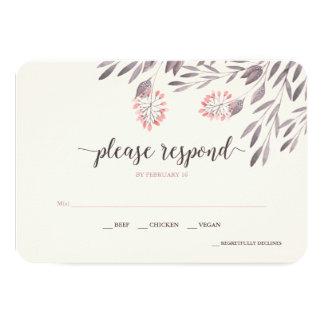 A Midsummer Night's Dream Wedding RSVP v2 Card