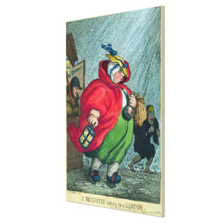 A midwife going to a labour, 1811 canvas print
