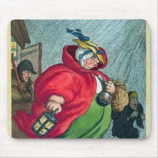 A midwife going to a labour, 1811 mouse pad