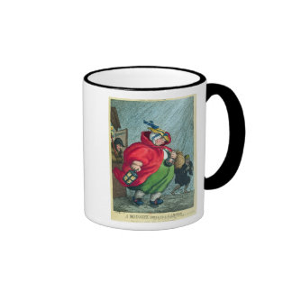 A midwife going to a labour, 1811 ringer mug