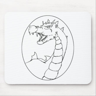 A Mighty Dragon (lined design) Mouse Pad