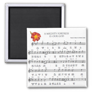 A Mighty Fortress is Our God 2 Inch Square Magnet