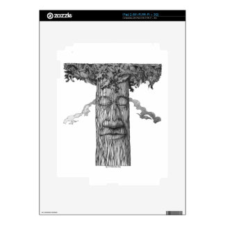 A Mighty Tree Cover B&W Decal For iPad 2