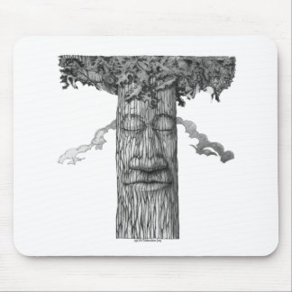 A Mighty Tree Cover B&W Mouse Pad