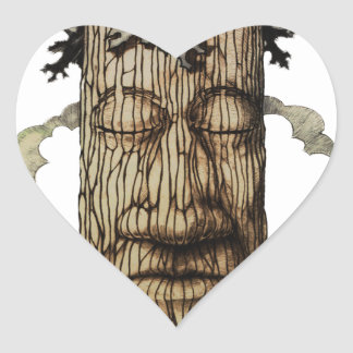 A  Mighty Tree Cover Page Heart Sticker