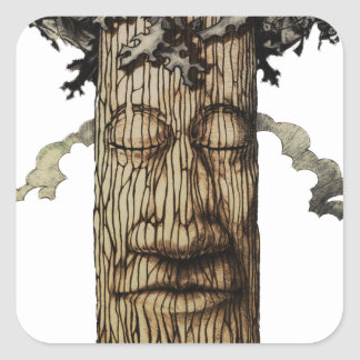 A  Mighty Tree Cover Page Square Sticker