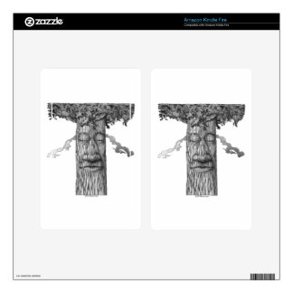 A Mighty Tree Cover &W Decal For Kindle Fire